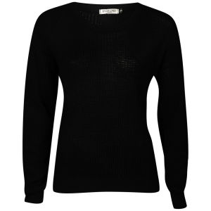 Moku Women's Fisherman Knit Jumper - Black