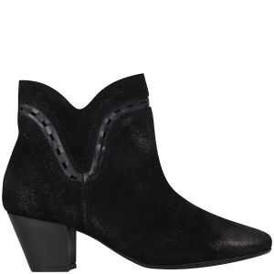 H Shoes by Hudson Women's Rodin Suede Heeled Ankle Boots - Black
