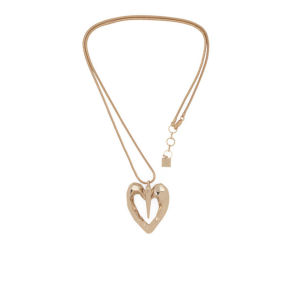 Kardashian Kollection KK Retro Geo Heart Pendant Necklace - Gold
