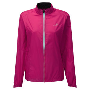 RonHill Women's Aspiration Running Jacket - Cerise/Aquamarine