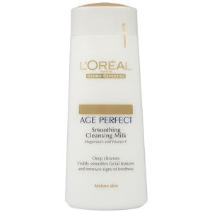 Leche limpiadora para piel madura Dermo Expertise Age Perfect Smoothing Cleansing Milk - Mature Skin de L'Oreal Paris (200 ml)