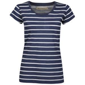 Brave Soul Women's Jasmin T-Shirt - Navy/White