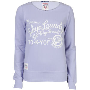 Toyko Laundry Women's Slash Neck Sweatshirt - Lilac