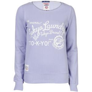 Toyko Laundry Women's Slash Neck Sweatshirt - Lilac