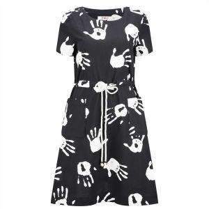 YMC Women's Hand Print Dress - Black/White