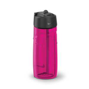 Nike T1 Flow Water Bottle 16oz - Vivid Pink/Black
