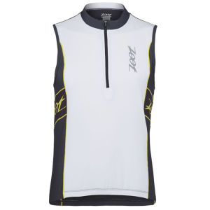 Zoot Performance Tri Sleeveless Jersey - White/Pewter