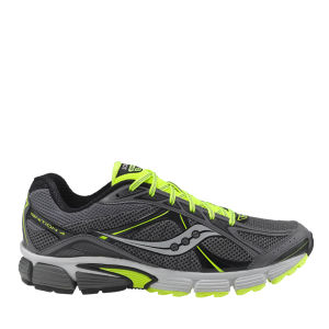 Saucony Men's Ignition 4 Running Shoe - Grey/Black/Citron