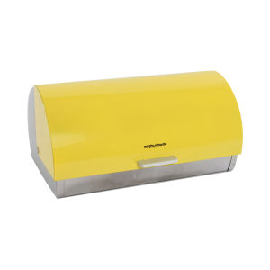 Morphy Richards Accents Roll Top Bread Bin - Yellow