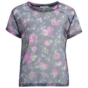 Carven Women's Printed Fabric T-Shirt - Navy