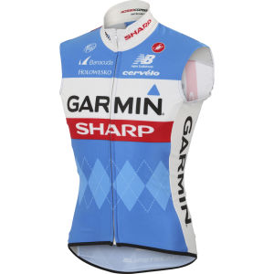 Garmin Sharp Team Replica Wind Gilet - Blue/White/Red