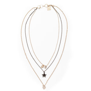 Kardashian Kollection KK Multi Row Charm Necklace - Gold