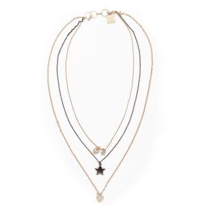Kardashian Kollection KK Multi Row Charm Necklace - Gold