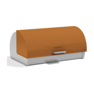 Morphy Richards Accents Roll Top Bread Bin - Orange