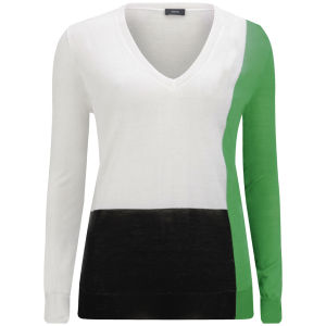 Joseph Women's V Neck Basic Knitwear - Bottle Green