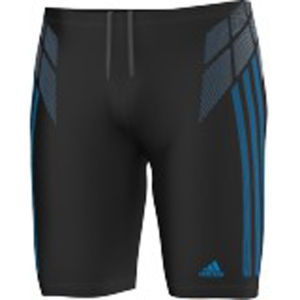 adidas Men's Tech Range Long Swimming Shorts - Black/Blue