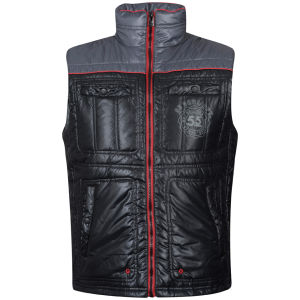 55 Soul Men's Dizzie Gilet - Black