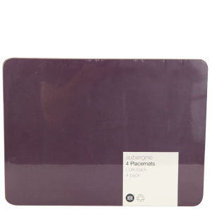 Aubergine Set of 4 Placemats