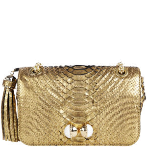 Lara Bohinc Solaris Small Python Leather Shoulder Bag - Gold Python