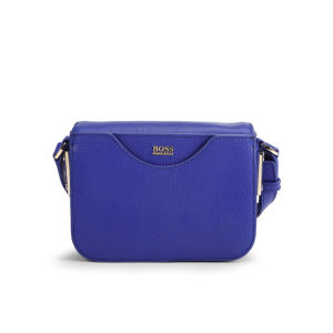 BOSS Black Melia Printed Leather Cross Body Bag - Bright Blue