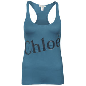 Chloe Women's Racerback Logo Top - Blue