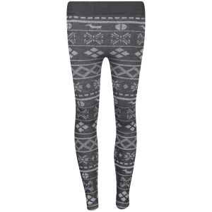 Chickster Women's Basic Printed Leggings - Black