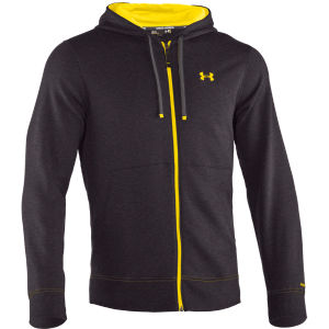 Under Armour Men's Charged Cotton Storm Transit Full Zip Hoody - Carbon Heather/Solar