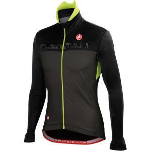 Castelli Poggio Jacket - Black/Anthracite/Fluorescent Yellow