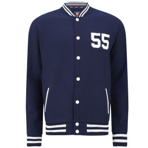 55 Soul Men's Manning Baseball Jacket - Navy