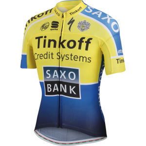 Tinkoff Saxo Team Replica Aero Jersey - Yellow/Blue