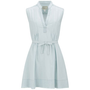Current/Elliott Women's The Craftsmen Smock Frayed Denim Dress - Summer Storm