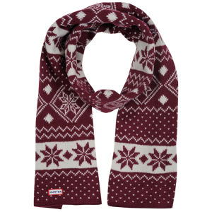 Hunter Women's Fair Isle Scarf - Very Berry