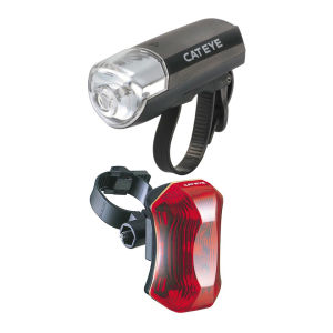 Cateye EL-120 TL-170 Front and Rear Cycle Lightset
