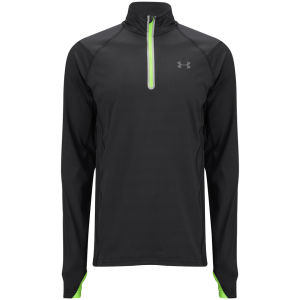 Under Armour Men's Stealth Storm 1/4 Zip Jacket - Black/Hyper Green/Silver