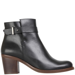 KG Kurt Geiger Women's Sasha Heeled Leather Ankle Boots - Black