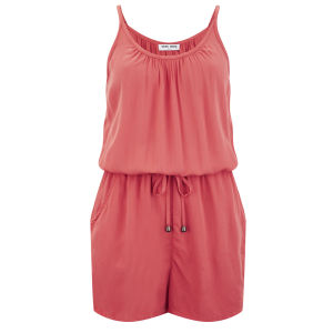 Vero Moda Women's Friday Playsuit - Spiced Coral