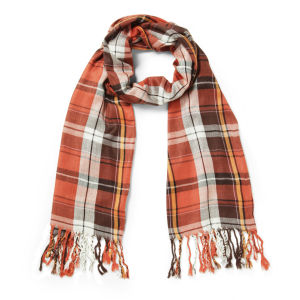 Impulse Women's Checked Scarf - Brown