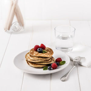 Exante Diet Box of 7 Blueberry and Raspberry Pancakes