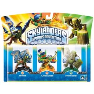 Skylanders: Drobot, Flameslinger and Stump Smash Triple Character Pack - Spyro's Adventure