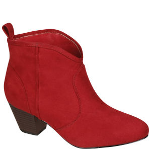 Odeon Women's Heeled Ankle Boots - Red