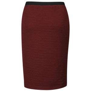 Influence Women's Ponte Midi Pencil Skirt - Merlot