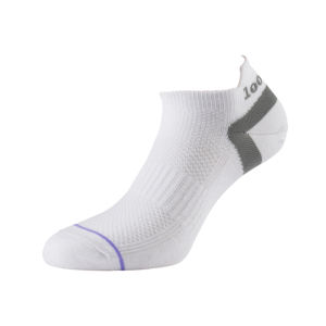 1000 Mile Liner Trainer Tactel Sock - White
