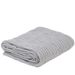Malini Chunky Cable Knitted Throw