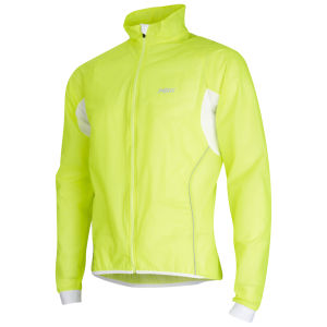 PBK Race Transparent Cycling Jacket Yellow Fluo