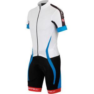 Castelli Velocissimo Sanremo Speedsuit - White/Blue