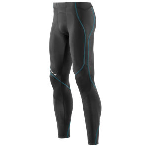 Skins Men's Coldblack Long Tights - Black/Process Blue
