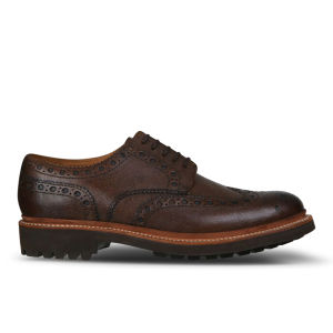 Grenson Men's Archie Leather Brogues - Brown Grain