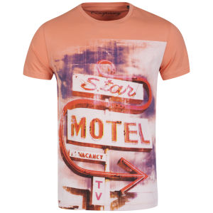 Conspiracy Men's Motel Specled Marl T-Shirt - Salmon
