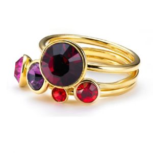 Ted Baker Jewel Stack Ring Gold Coloured