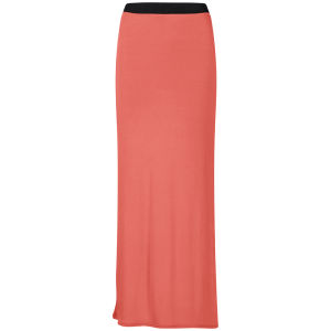 Influence Women's Jersey Maxi Skirt - Coral